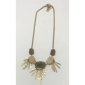 Lucky Brand Druzy Gold Statement Collar Necklace